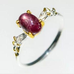 Cute genuine star ruby fine art ring